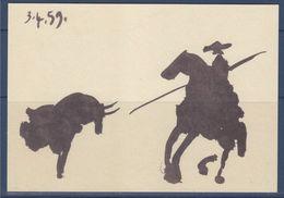 = Musée Pablo Picasso Paris Scène De Corrida: La Pique 3 Avril 1959 Carte Postale Encre De Chine Et Lavis - Paintings