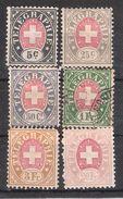SUISSE, Telegraphe , Yvert Entre N° 1 Et 8 Neufs * (*) Et Obl , Cote 38 Euros - Telegrafo