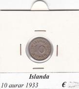 ISLANDA   10 AURAR   ANNO 1933  COME DA FOTO - Islanda