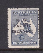 New Guinea SG 74 1915 Kangaroos 2 And Half Penny Indigo Mint Hinged - Papua New Guinea