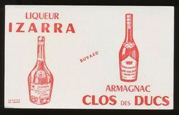Buvard - Liqueur IZARRA - Armagnac CLOS Des DUCS - Blotters