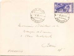ITALIE FRAGMENT D ENVELOPPE DE JUILLET 1951 DE LORDIN POUR PARIS CACHET PISA FERR - 1946-.. République