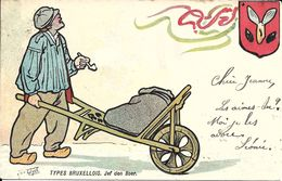 Bruxelles (1000) : Types Bruxellois - Jef Den Boer,  Par Médard Tytgat. CPA Précurseurs. - Künstlerkarten
