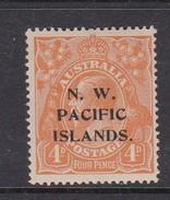 New Guinea SG 104 1919 KGV 4d Yellow-orange Mint Hinged - Papua-Neuguinea