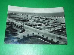 Cartolina Rimini - Campi Di Tennis E Spiaggia 1954 - Rimini