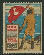 Suisse // Schweiz // Switzerland //  Erinnophilie //  Vignette , Genève, La Fête De Juin 1914 - Erinnophilie