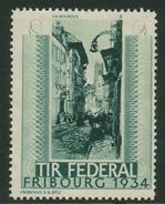 Suisse // Schweiz // Switzerland //  Erinnophilie //  Vignette , Tir Fédéral Fribourg 1934 - Erinnophilie