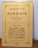 SCHWEIZ - Carte Topographique De La SUISSE * BLAT VIII * General G.H. Dufour - Ann.1861 - AARAU LUCERN - ZUG ZÛRICH - Topographical Maps