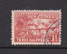 New Guinea SG 126a 1925-28 Native Village One And Half Penny Orange Vermillion Used - Papua New Guinea