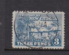 New Guinea SG 128 1925-28 Native Village Three Pennies Blue Used - Papua New Guinea