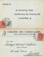 B612 ORDINE FARMACISTI SIENA - 1900-44 Vittorio Emanuele III