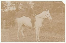 Man On Horse Near Truro, Cornwall, C.1905 - Tims RP Postcard - Other