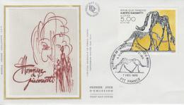 Enveloppe  1er  Jour   Oeuvre  De   GIACOMETTI    MONACO   1985 - FDC