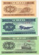 CHINA 1 2 5 分 (FEN) 1953 P-860 861 862 UNC WITHOUT S/N [CN4072b] - China