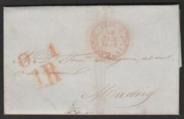 1851 Prefilatelia Sobreescrito Baeza Avila - Castilla Y Leon - Spagna