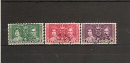 NEWFOUNDLAND 1937 CORONATION SET SG 254/256 FINE USED - 1908-1947