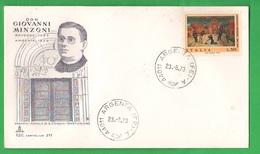 FDC Italia 1973 Don Minzoni  50°  50  Lire Busta Fdc Capitolium 211 Uff: Argenta - FDC