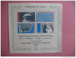 Bloc Arphila  75  Paris  Exposition Philatélique Internationale 1975 - Blocs & Feuillets