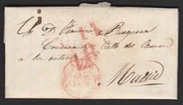 1849 Prefilatelia Sobreescrito Baeza Avila - Castilla Y Leon - Spagna