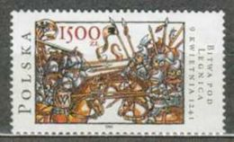 POLAND MNH ** 3122 Bataille De LIEGNITZ 1241, Combat Des Troupes Germano-polonaises Et Mongoles CHEVAL CHEVAUX - Nuovi