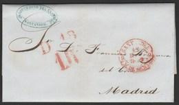 1849 Prefilatelia Sobreescrito  Baeza Santander - Cantabria - Spagna
