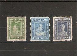 NEWFOUNDLAND 1938 PERF 13½ VALUES SG 268, 270, 271 FINE USED Cat £14.75 - 1908-1947