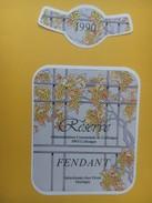 4278 - Fendant 1990 & Dôle Réserve Administration Communale De Collonges Valais Suisse 2 étiquettes - Etiquettes