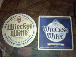 Sous Bock Biere Wieckse Witte 2 Differents Biere Blanche Et Biere Sur Lie - Portavasos