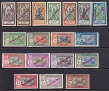 "India Fr, 1941-1942  ""FRANCE LIBRE"" Yv. N°132-38,140-50  217-30 P.A. 1-6 MLH */** - India (1892-1954)"