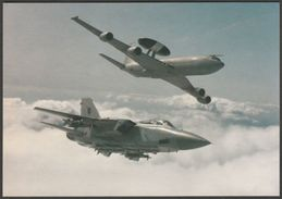 Boeing E-3D Sentry AWACS And Panavia Tornado F3 - Worldairsim Postcard - 1946-....: Modern Era