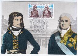 France 1973 Preparation Du Code Civil, Maximum Card, Paris, Napoleon - Cartoline Maximum
