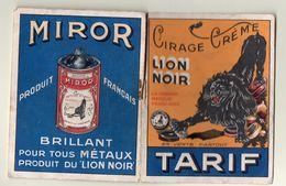 Carnet Tarif LION NOIR MIROR  (PPP5330) - Advertising