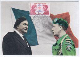France 1973 Pierre Bourgoin & Philippe Kieffer, Compagnons De La Liberation, Maximum Card, Paris - 1970-79