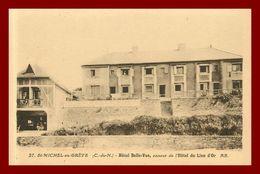 Saint Michel En Grève  *  Hotel Belle-vue  ( Scan Recto Et Verso ) - Saint-Michel-en-Grève