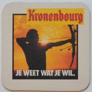 Sous-bock 1664 KRONENBOURG Je Weet Wat Je Wil (tir à L'arc Flèches) Bierdeckel Bierviltje Coaster (CX) - Sous-bocks
