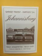 4282 - Johannisberg Pour Garage Transit Martigny Valais Suisse Camions DAF - Etiquettes