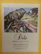 """4283 - Fendant & Dôle Réserve """"Scie De Cry"""" Valais Suisse  2 étiquettes - Etiquettes"""