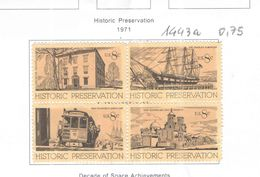 Usa Stati Uniti 1971 Quartina Storia Valori N.04 Nuovi  See Scans - Unused Stamps