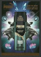Puma, Deodorant, Sample, Tester - Echantillons (tubes Sur Carte)