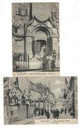 71 Paray Le Monial Lot 2 Cartes Congres Juin 1921 Neuves TBE Colas - Paray Le Monial