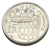 1/2 Franc - Monaco - 1968 - Ni. - TTB - - Monaco
