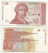 Croacia - Croatia 10 Dinara 8-10-1991 Pk 18 A Ref 597-2 - Croacia