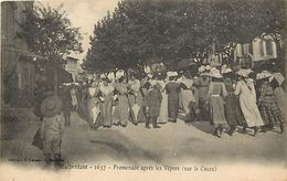 - Dpts Div.-ref-PP464- Bouches Du Rhone - Marseille - Promenade Apres Le Vepres ( Sur Le Cours ) - Carte Bon Etat - - Autres