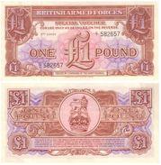 Gran Bretaña - Great Britain 1 Pound 1956 3ª Serie Pick M29 UNC - Emisiones Militares