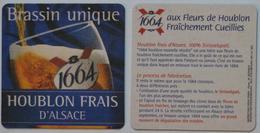 Sous-bock 1664 KRONENBOURG Brassin Unique Houblon Frais D'Alsace Bierdeckel Bierviltje Coaster (CX) - Sous-bocks