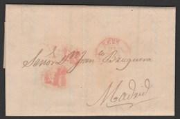 1849 Prefilatelia Sobreescrito Baeza Reus - Cataluña - Spagna