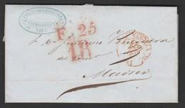 1849 Prefilatelia Sobreescrito Baeza Irún ( Vizcaya) - Guipuzcoa - Spagna