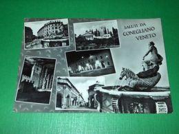 Cartolina Saluti Da Conegliano Veneto - Vedute Diverse 1960 Ca - Treviso