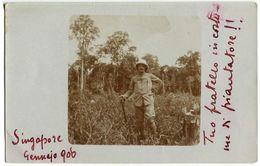 FOTO CARTOLINA PIANTAGIONE DI GOMMA SINGAPORE GENNAIO ANNO 1906 - Singapore