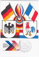 France 1973 Xeme Anniversaire Du Traite Franco-Allemand, Germany Deutschland, Maximum Card, Paris, Bird Birds - Cartas Máxima